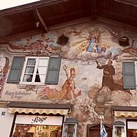 Lüftlmalerei in Garmisch am Jocher Haus