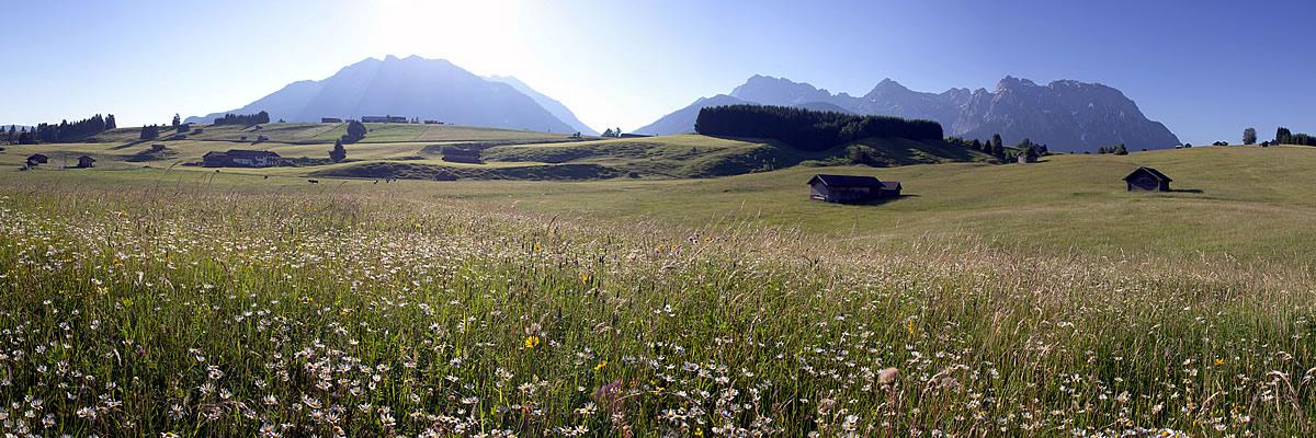 Panorama Buckelwiesen bei Mittenwald