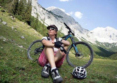 Biken in den Alpen