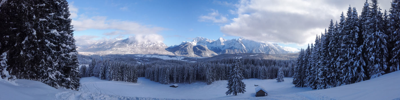 Winter-Panorama mit Karwendel